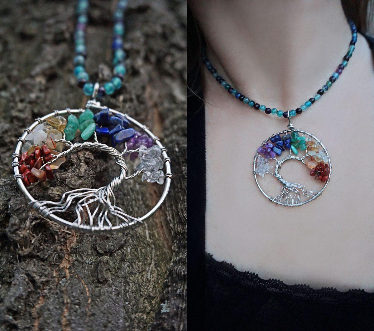 copacul vietii coliere handmade accesorii proprietati energetice pietre naturale agat bijuterii