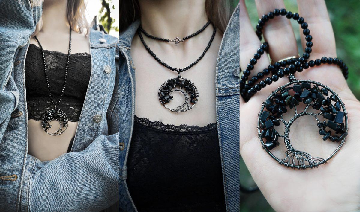 copacul vietii coliere handmade accesorii proprietati energetice pietre naturale onix bijuterii